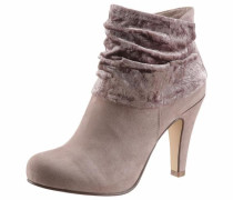 High-Heel-Stiefelette taupe / altrosa