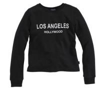Sweatshirt mit Frontdruck schwarz