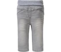 Bequeme Jeans mit Rippbund grey denim