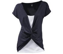 Shirt 2-in-1 marine / weiß