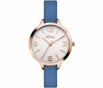 Quarzuhr 'So-3240-Lq' (Set 2 tlg.) blau / rosegold