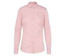 Bluse 'thdw Basic Stripe' rosa / weiß