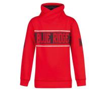 Sweatshirt 'barton' kobaltblau / rot / weiß