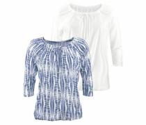 Shirts (2 Stück) blau / weiß
