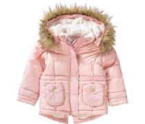 Wintermantel mit abnehmbarer Kapuze rosa