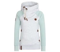 Sweater 'So ein Otto Iii' hellgrau / mint
