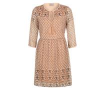 Kleid aus Crêpe mit Muster 'Vmnabia' beige / lachs