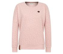 Female Sweatshirt 'Der Gesäß' rosa / weiß
