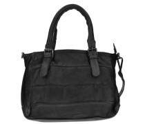 Waxed Leather Gammy Handtasche Leder 24 cm schwarz