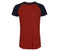T-Shirt mit Raglanärmel blau / rot