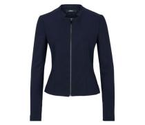 Jersey-Blazer mit Zipp navy