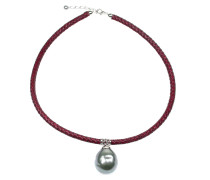 Perlenkette 'Scarlet Grey'