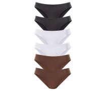 Jazzpants Active (6 Stck.) braun / schwarz / weiß