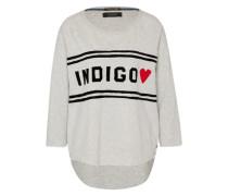 Sweatshirt 'Indigo chest' grau / rot / schwarz