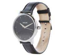Armbanduhr 'Kensigton Leather' (Gehäuse: 33 mm) schwarz
