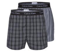 Boxershorts im 2er Pack grau / weiß