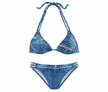 Triangel-Bikini in Jeansoptik blue denim