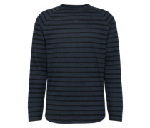 Langarmshirt 'Stripe Longsleeve' navy / schwarz