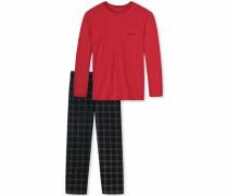 Pyjama »Scottland Yard« rot / schwarz