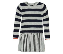 Kleid mit Pullover marine / grau / orange