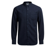 Lässiges Button-Down-Freizeithemd blau