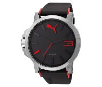 "Armbanduhr "" 10294 Ultrasize - Silver Red Pu102941003"" schwarz"