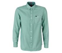 Regular: Schlichtes Baumwollhemd mint