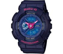 'Baby-G Chronograph' »Ba-110Pp-2Aer« blau / dunkelblau / pink