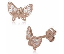 Paar Ohrstecker »Schmetterling« rosegold