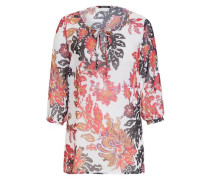 Bluse Tunika-Style hellrot / weiß