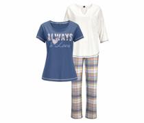 Pyjamaset (3-teilig) blau