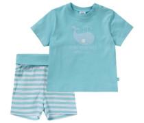 Baby Schlafanzug für Jungen türkis / hellblau