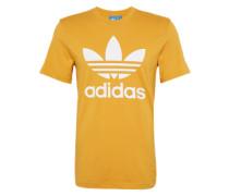 T-Shirt mit Rundhalsausschnitt senf / weiß