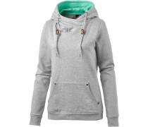 Sweatshirt aqua / grau