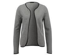 Cardigan mit Struktur schwarz / weiß