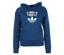 Hoodie mit Logoprint blau