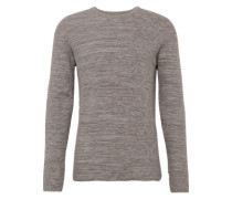 Pullover 'two-tone honeycomb' graumeliert