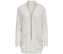 Lockerer Strick-Cardigan beige