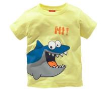 T-Shirt mit Frontdruck für Jungen gelb