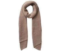 Langer gestrickter Schal dunkelbeige