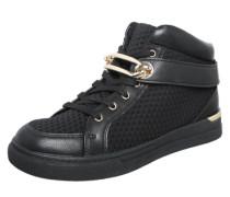 Hohe Sneaker mit Goldschnalle 'Storo' schwarz