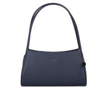 'Berlin' Handtasche Leder 31 cm blau