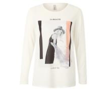 Shirt mit Frontprint 'Ragnhild' mischfarben / weiß