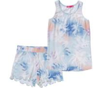 Schlafanzug Arianne für Mädchen blau / hellblau / dunkelblau / pastellorange / weiß