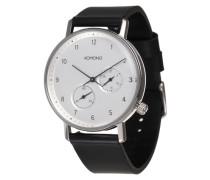 Armbanduhr 'Walther' schwarz