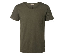 O-Ausschnitt-T-Shirt grün