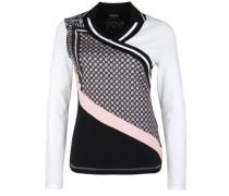 Longsleeve 'white Plain' dunkelgrau / rosa / weiß