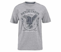 T-Shirt nachtblau / hellgrau