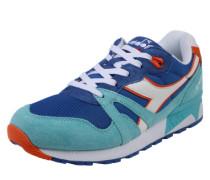 Sneaker 'n9000 Iii' beige / türkis / blue denim / rot