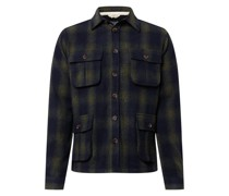 Jacke 'Akoscar Wool Check Overshirt'